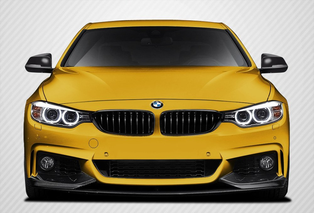 2014-2016 BMW 4 Series F32 Carbon Creations M Performance Look Front Spoiler Splitters - 3 Piece