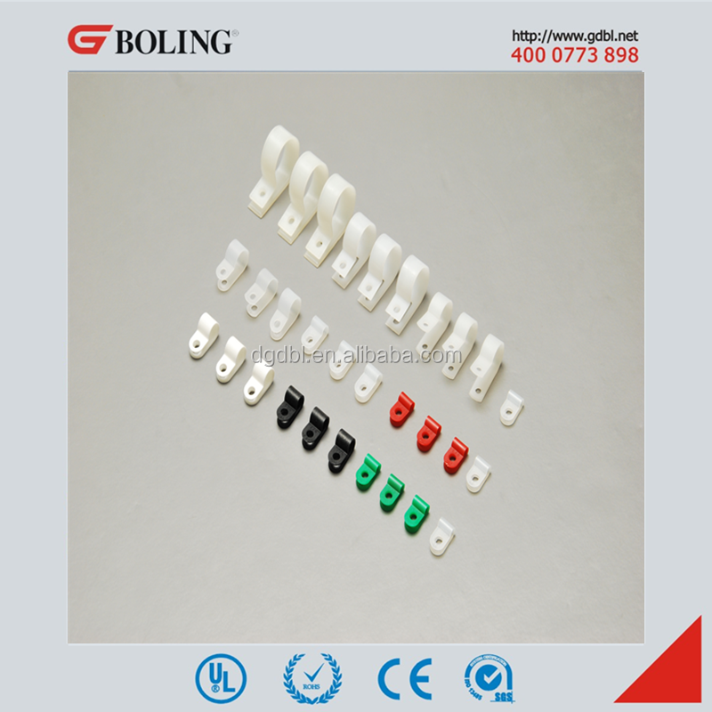 Nylon 66 R Type Line Clamp for telephone wire cable clip