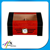 solid wood humidor with clear hinged lid