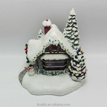 Beleuchtete Bilder Weihnachten.Polyresin Souvenir Dekorative Led Weihnachten Figuren Beleuchtete Dorf Häuser Buy Weihnachten Beleuchtete Häuser Weihnachten Figuren Beleuchtete