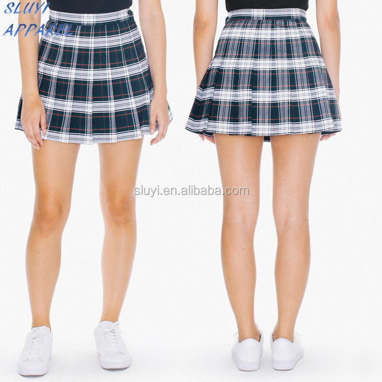 Wrap Around Young Girls Sexy Mini Skirt Pictures Plaid