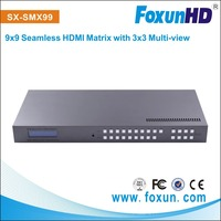 with 3x3 multi view and RS232 SX-SMX99 9-WAY seamless hdmi matrix support RS232