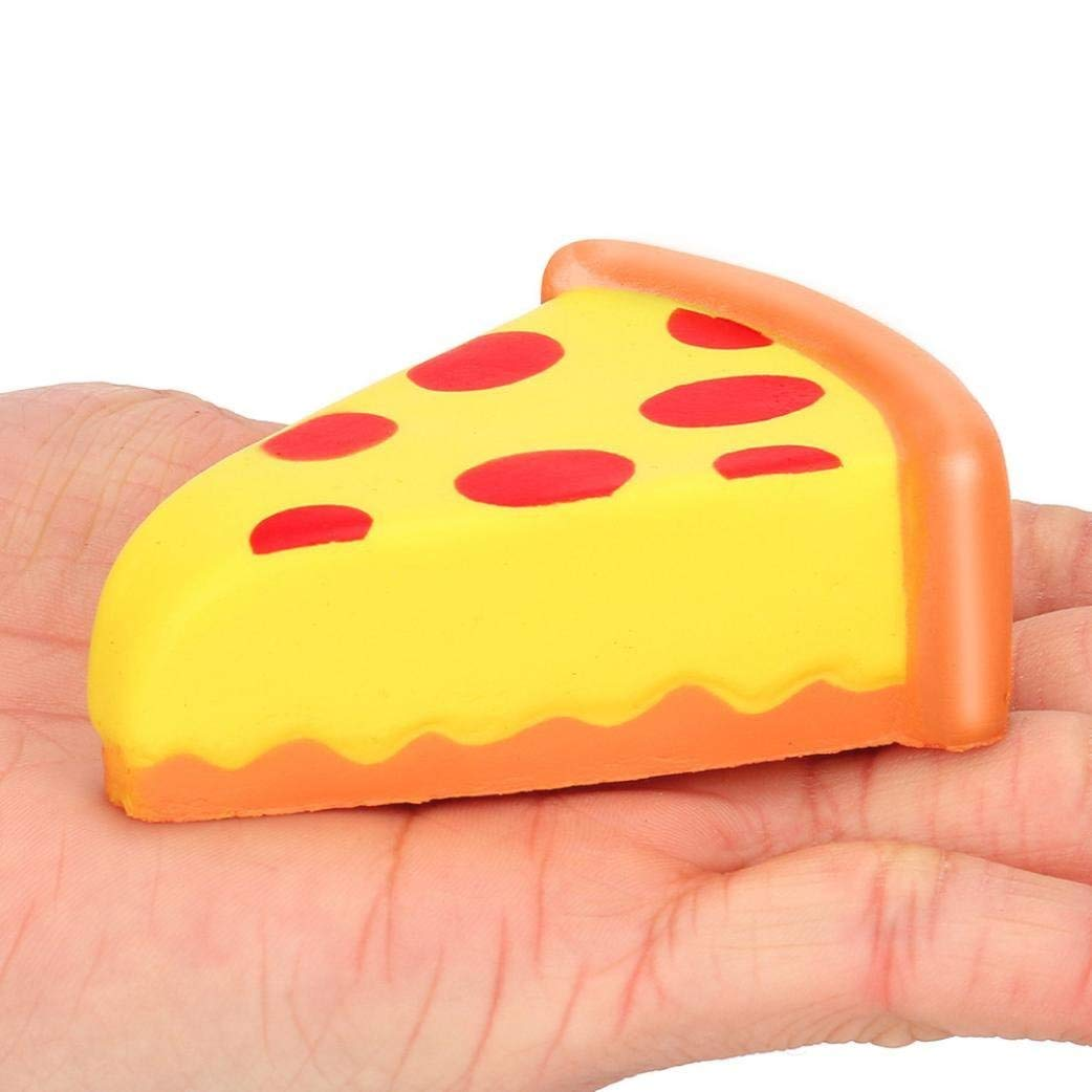 Drfoytg Clearance,Stress Reliever Toys Fun Squishy Toy Mini Pizza Decompression Slow Rising Squeeze Cream Scented (Yellow)