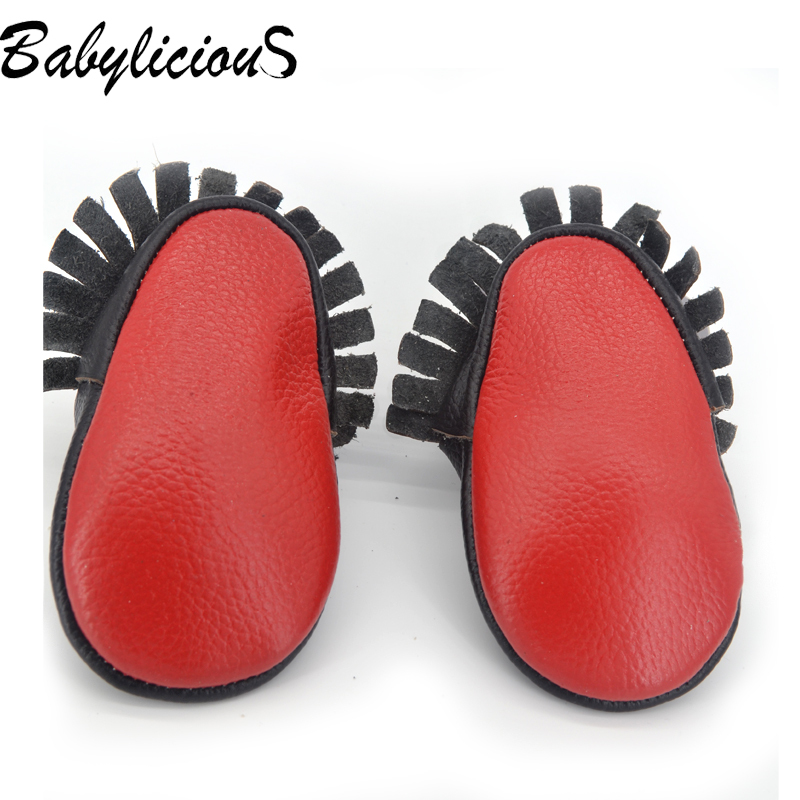 408ef4c8a8df Aliexpress.com   Buy Red sole Genuine Leather shoes baby Moccasins . ...