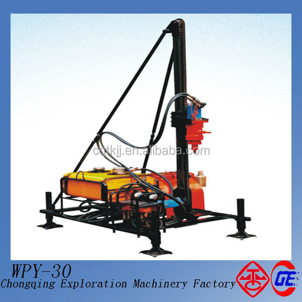 Special Recommend WPY-30 New Portable Hydraulic Mineral Portable Soil Drilling Rig