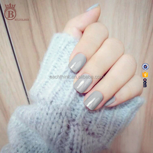 Summer Solid Color Curve Artificial Finger Nail Tips with 24pcs/box