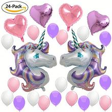 Unicorn Balloons Birthday Party Supplies for Kids Birthday Decorations Baby Shower Decorations with Latex Balloons