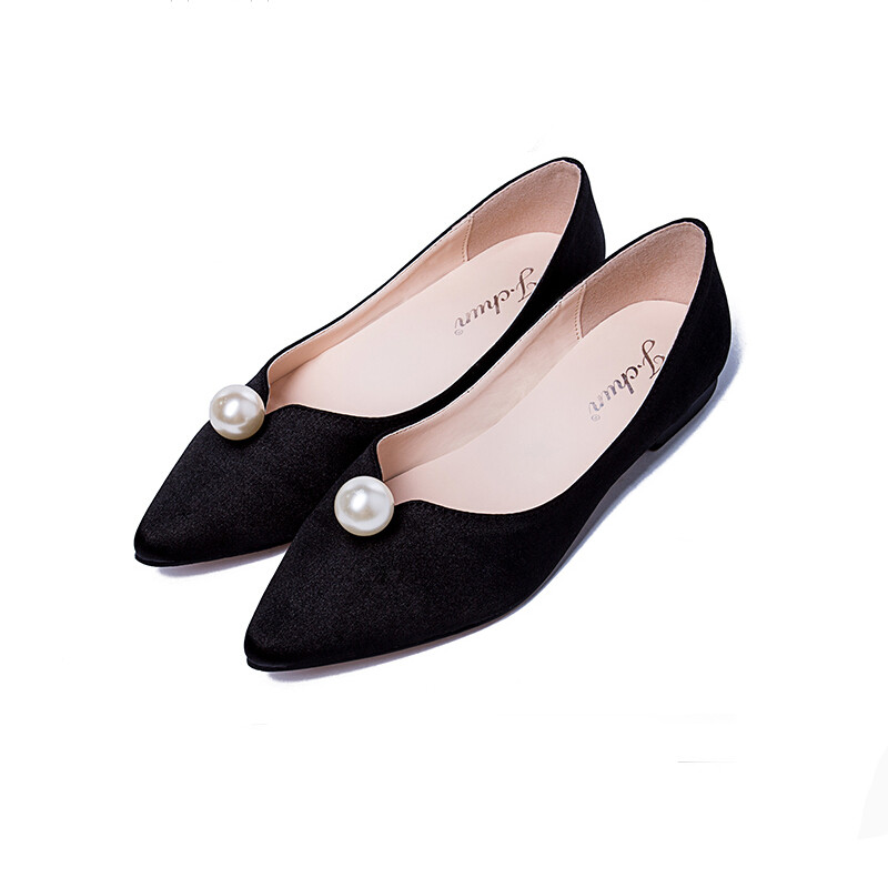 Black Flat Pointed Toe Shoes