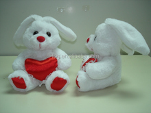 Valentine's Day Lovely Gift Red Heart Plush Rabbit Toy