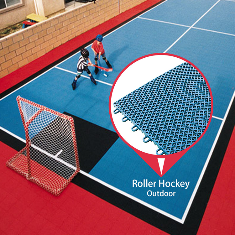 Very high quality easy installation hockey flooring tile