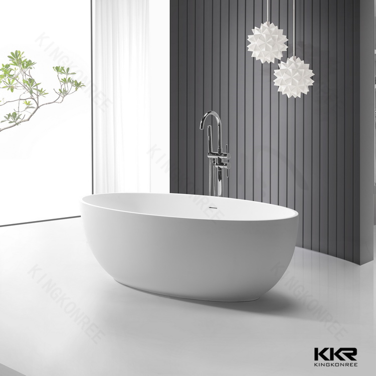 1450mm Di Piccole Dimensioni Ovale Design Freestanding Vasca Da ...