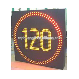 Highway safety speed limit LED traffic warning sign