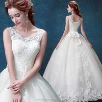 AJW00147 Sweetheart Wedding Dress For Bride White Bridal Gown