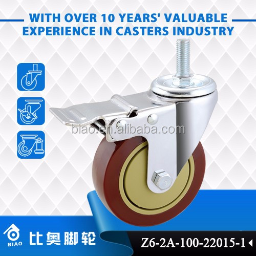 High quality medium duty sewing machine caster wheel