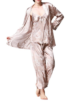 Women s Satin Pyjamas Set 0d6d20b53