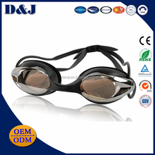 Beautiful prescription silicone swim goggles anti fog for wholesale