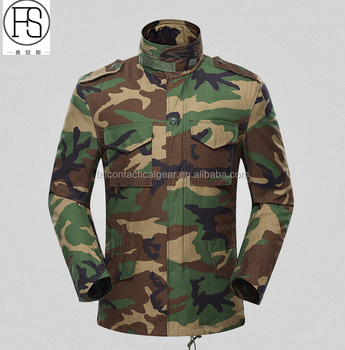 Factory Supply BDU TYPE black plain field Military M65 Jacket