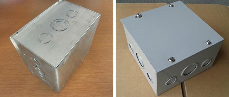 "Caja De Acero Galvanizado Adaptable Eléctrico Caja 9x6x2/"" pulgadas 230x150x50mm"