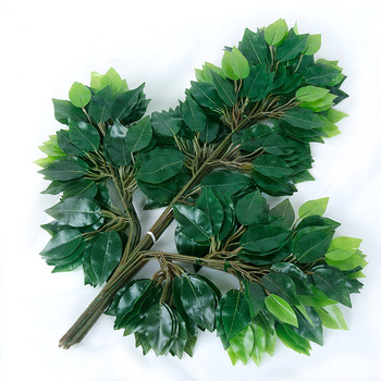 Hot style plastic artificial banyan tree branches leaves Popular Artificial red maple leaf Leaves