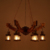 American wood anchor natural-wooden-lamp-base chandelier