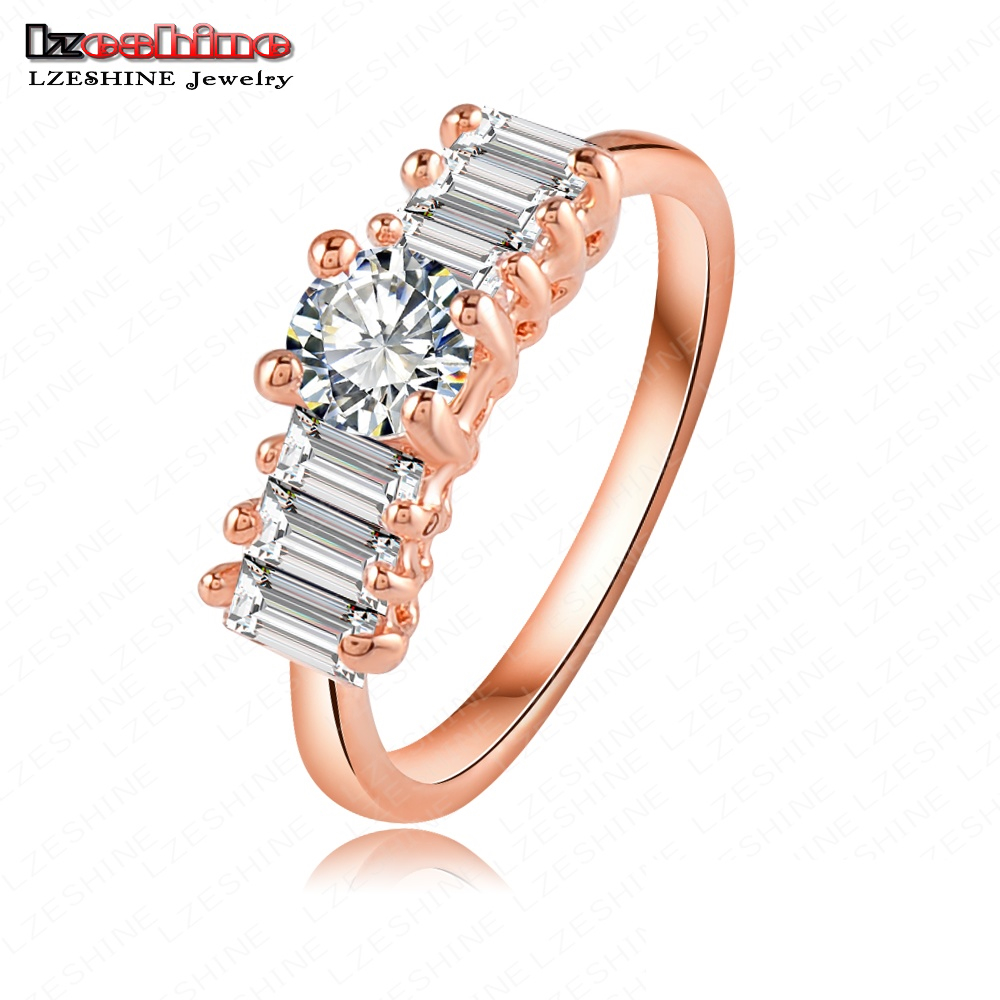Mini 18K Rose Gold Plate Austrian Crystal Women Rings Lighter Ring 22*6mm RIC0019-A