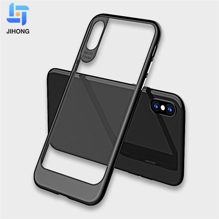 Best sellers 2 IN 1 Acrylic Bumper Hybrid Case Transparent Clear Hard PC TPU back Cover For iPhone X Case