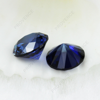 Round lab created loose synthetic sapphires blue sapphire corundum