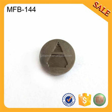 MFB144 Wholesale customized sew on metal trouser buttons