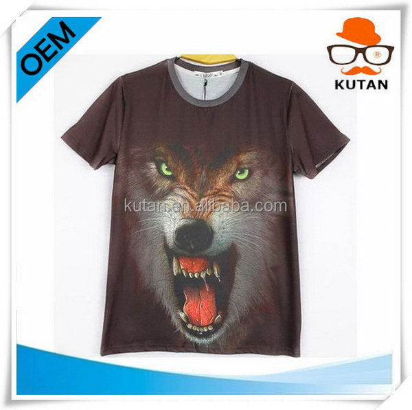 High quality oem Manufacturer Custom T-Shirt Digital Printing Sublimation 3D t Shirt