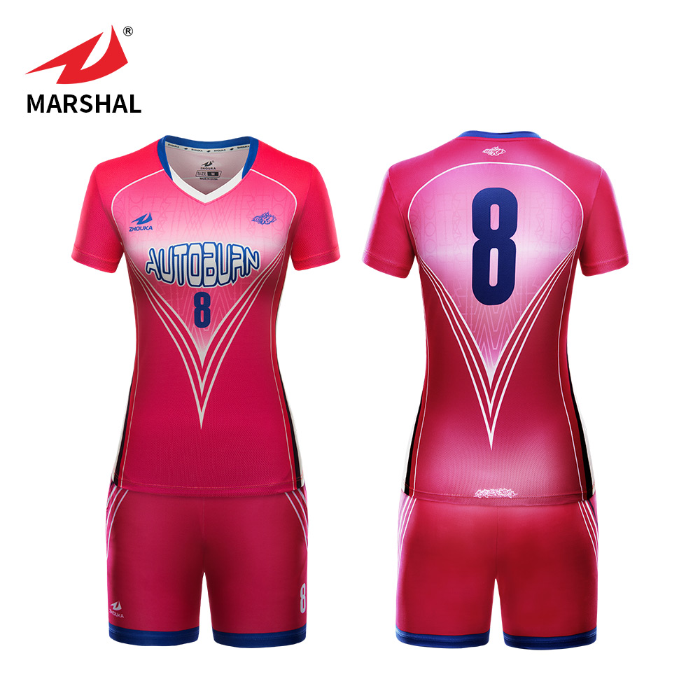 Custom Sublimated Printed Professional Womens Volleyball Shirts Kit  Uniforms Training Design Your Own Volleyball Jersey 89239991dc