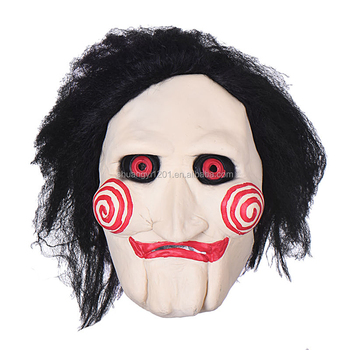 scary horror horrible halloween costume saw themed ghost latex mask