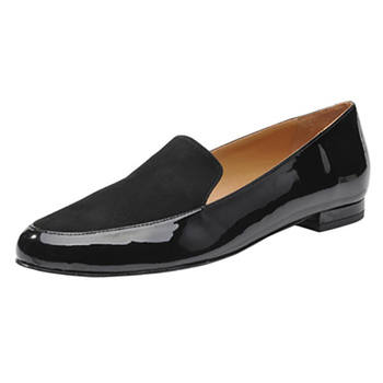 d09d10d738a Amazon Shoes women Black Classic Flat shoes Slip On patent Leather Flats  Loafer