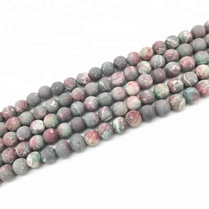 Natural Stone Beads Forst Dull Polish Matte Picasso Jasper Stone Beads 6 8 10 12mm For Diy Necklace Bracelet Making