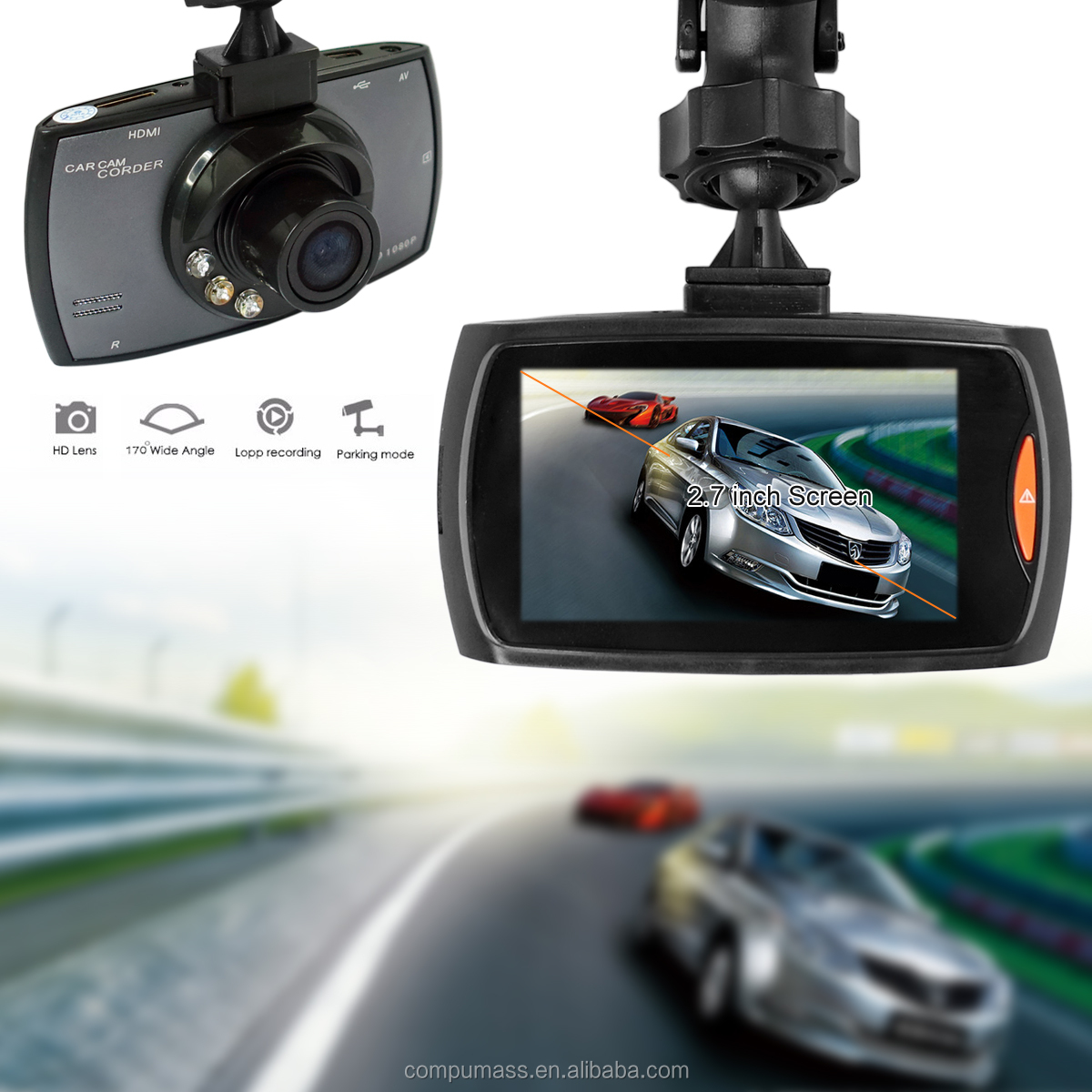 100% original mini cámara del coche DVR G30 dashcam Full HD 720 p video registrator