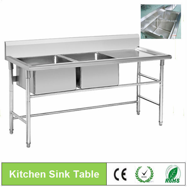 Double Bowl Stainless Steel Kitchen Sink   Buy White Kitchen Sinks,Stainless  Steel Kitchen Sink,Kitchen Sink Product On Alibaba.com
