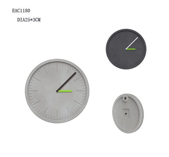 Modern Minimalist Concrete Industrial Wall Clock Round