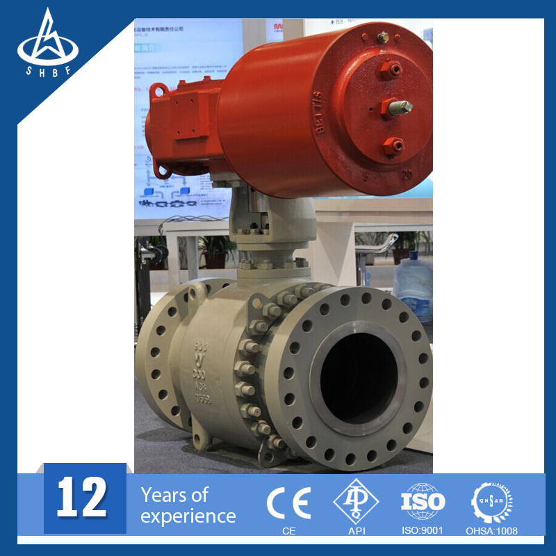 China Manufactury Pipeline Ball Valve With Gas Over Oil Actuator ...