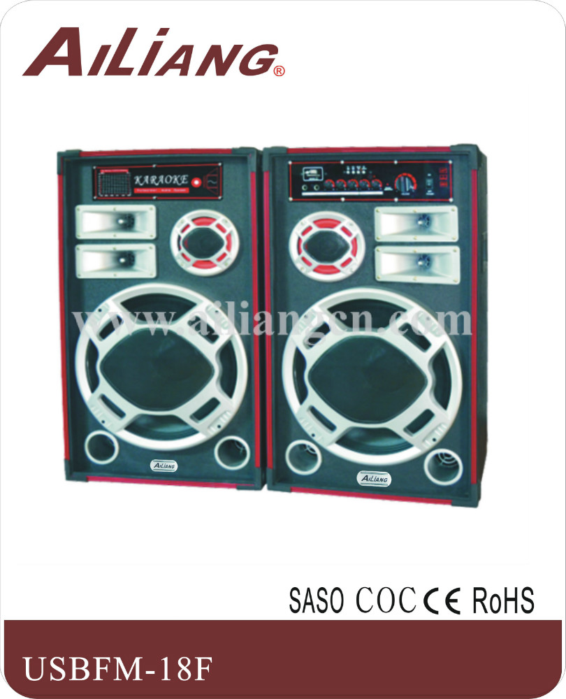 15 inch Ailiang professional stage Speaker AILIANG-USBFM-18F/2.0
