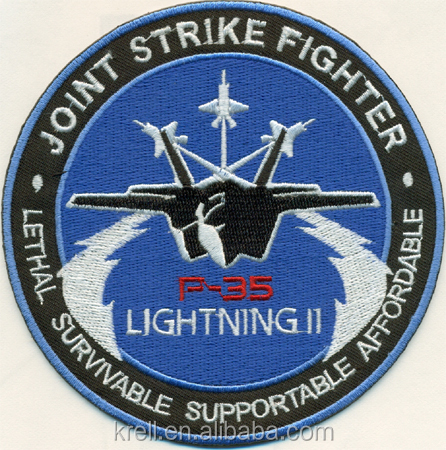 Top Quality 100% Embroidery Fighter Patches Iron On Patches