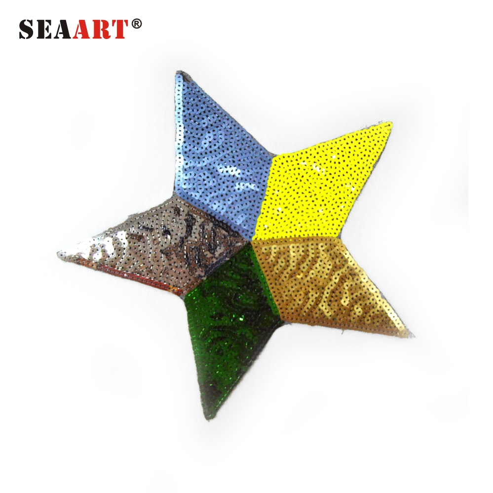 Blue Gold Brown Green Star Custom Shoe Patch