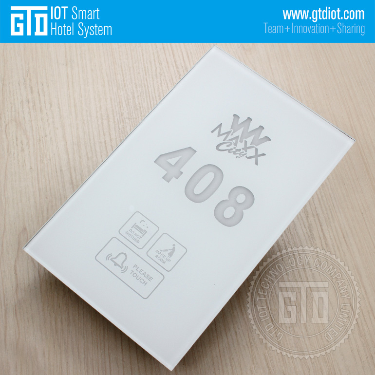 Electronic Hotel Logo Room Number Doorbell Dnd Mur Tempered Glass ...