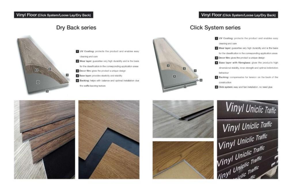 Badminton Court Pvc Vinyl Flooring Waterstone Design Tile Plank