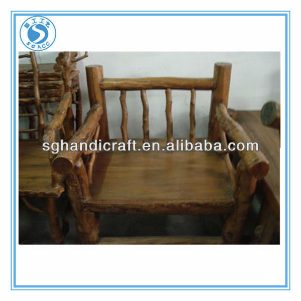 ancient furniture elm wooden sofa