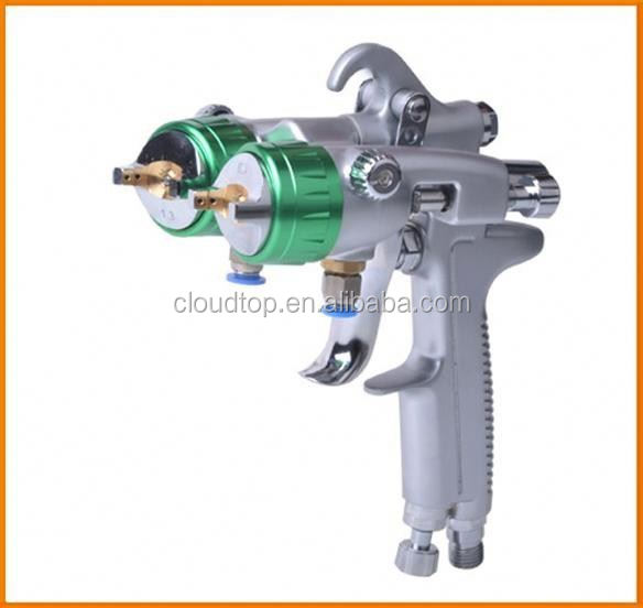 New type of 2015 adhesive spray equipment nano chrome double nozzle gun