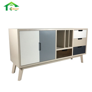 Modern Design French Type White Wood Tv Cabinet With Drawer