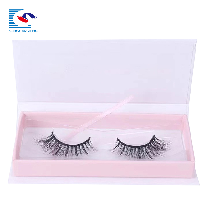 SENCAI free sample custom logo magnetic individula eyelash packaging box with window