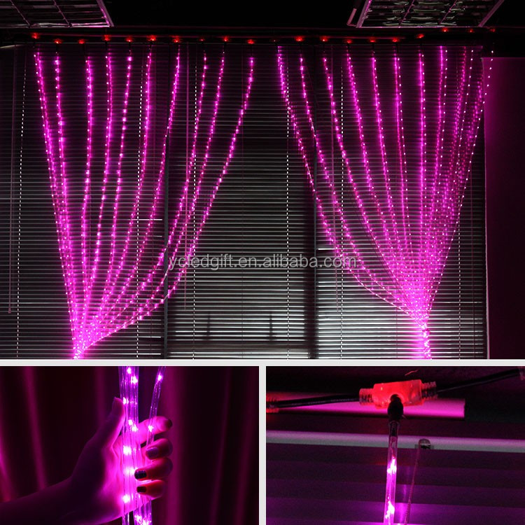 Led Curtain Lights Copper Wire String Ul Led Christmas