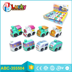 miniature cars 6 styles pull back toys mini new bus with building block