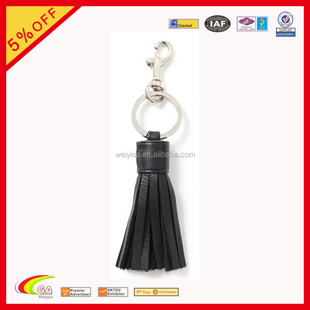 Full grain leather tassel keychain, Tassel keychain multicolor for choose, Genuine leather tassel keychian supplier
