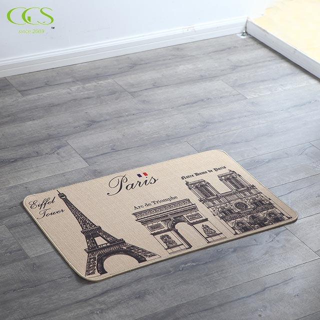 "15.75x23.62"", Linen Truffle Stain Resistant Surface with rubber base Premier Anti-Fatigue Kitchen Comfort Floor Mat"